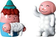 Alessi Hand Decorated Nello Pastorello and Ciao Ciao Figurines in PorcelainMulti
