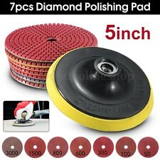 8PCS Diamond Polishing Pads Wet/Dry 5 inch Set For Granite Stone Concrete Marble