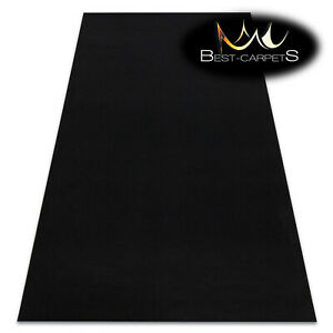 Anti Slip durable Rugs doormat RUMBA single colour BLACK Any Size Best Quality