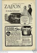 1925 PAPER AD Linn Motor Device Carburetor Car Auto Automobile