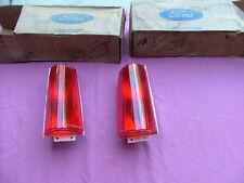1977-79 Ford LTD II tail light lenses, pair LH RH, NOS!