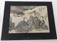 "Antique Japanese Lithograph Print, 1850 A.D., 8"" x 6 1/4"" (Image)"