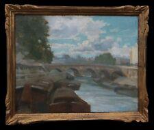 Charles Jean COUSSEDIERE (-1934) Vue du Pont Neuf Paris France île de la Cité