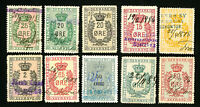 Denmark Stamps Lot of 10 All Different Revenues