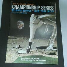 1969 National League Championship Series Atlanta Braves vs New York Mets Program