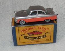 1960s.Matchbox Lesney.33.FORD Zodiac two tone,SPW,WITH WINDOWS.MIB.ALL ORIGINAL