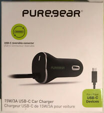 PureGear - 15W/3A USB-C Car Charger - Reversible Connector - Very Good Condition