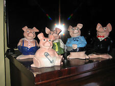 NAT WEST WADE PIG MONEYBOXES SET OF