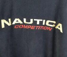 Vtg 90s Nautica Competition pullover Blue  fleece sweatshirt  XXL
