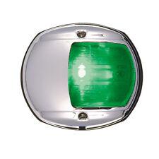 PERKO LED SIDE LIGHT 12V GREEN W/ CHROME PLATED BR