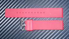 16 mm Red Silicon watch Band/Strap Flat  With a silver buckle