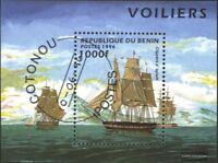 Benin Block18 (kompl.Ausg.) gestempelt 1996 Segelschiffe