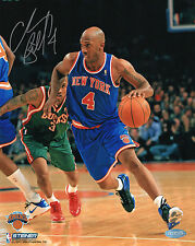 Chauncey Billups Signed 8X10 Knicks photo Auto Autograph INS 4 Steiner COA