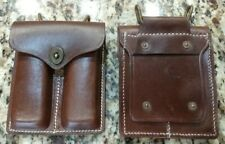 1x 1911 Leather Double Mag Pouch for Colt .45ACP Magazines Fits USGI Pistol Belt