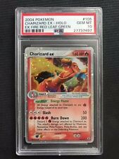 PSA 10 Gem Mint - CHARIZARD EX HOLO - Pokemon TCG: EX Fire Red Leaf Green #105