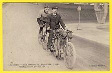 cpa Sport MOTOCYCLETTE et VÉLO STAYERS Cycliste César SIMAR entrainé par BERTIN