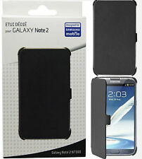 Samsung Anymode black book Wallet Flip Etui Housse pour Galaxy Note II N7100 Note2