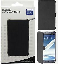 Samsung Anymode Libro Negro Cartera Flip Funda Protectora Para Galaxy Note Ii Note2 N7100
