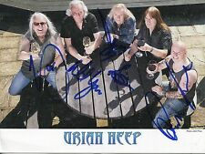 URIAH HEEP HAND SIGNED 6x8 COLOR PHOTO+COA       AWESOME   SIGNED BY WHOLE BAND
