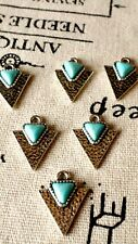 Triangle geometric silver 3 charms jewellery supplies C293