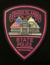 Rhode Island RI State Police Highway Patrol Patch PINK CANCER AWARENESS