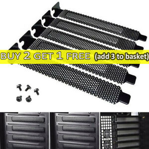 5pc Mesh PCI Bracket Slot Cover Dust Filter Blank Blanking Plate+Screw Fit PCI