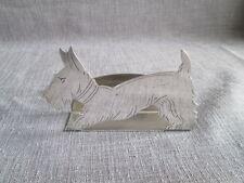 Beau porte menu en métal argenté Fox Terrier