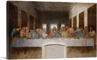 ARTCANVAS The Last Supper 1498 Canvas Art Print by Leonardo da Vinci