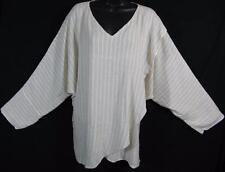 TIENDA HO~Natural Linen Stripe~SUSTI~Tishka Top~L/S DOLMAN~Wrap Front~UNIQUE!~OS