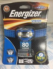 Energizer Vision LED Headlight Hands Free Headtorch 80 Lumens Headlamp