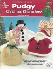 New listing New Pudgy Christmas Characters Santa Elf Penguin 7 Designs Crochet Pattern Book
