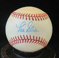 Lee Elia Signed ONL Baseball COA Manager of Chicago Cubs, Philadelphia Phillies