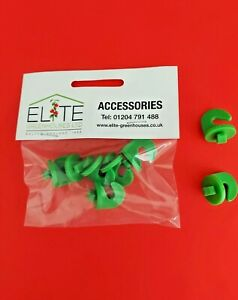 GENUINE Elite x 6 Greenhouse Plastic Hooks Crop Heads.Easily Secured into Roof