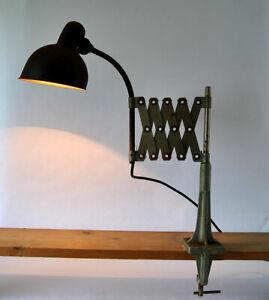 KAISER Idell Werkstattlampe / SCHERENLAMPE, 30er Jahre