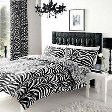 Zebra & Leoparden Druck einzelne wendbare Bettbezug Set NEU 2 in 1