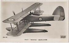 POSTCARD  AVIATION  RAF  SEAFOX  Seaplanes