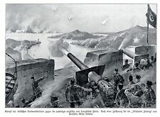 Kriegsmaler * War Artist * WILLY STÖWER Türken im Kampf gegen England  1914