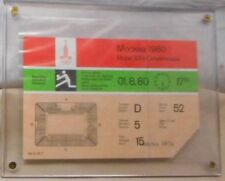 1980 OLYMPIC GAMES MOSCOW USSR Volleyball Ticket 1.8.1980 in hard plastic sleeve