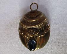 Victorian Aesthetic Design Sapphire Paste Silver Locket  c.1885