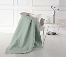 """50"""" x 60"""" Virah Bella Mia Solid Seafoam Quilted Throw Super Soft Weave Blanket"""