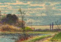 Abraham Hulk Junior (1851-1922) - Signed 19th Century Watercolour, River View
