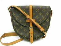 Auth LOUIS VUITTON Monogram Chantilly MM M51233 Shoulder Bag PVC Leather 90416