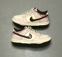 2007 Nike Dunk Low GS Sail Redwood Cherry Pink White Size 4Y (309601-165) RARE