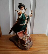 More details for collectable merlin wizard large ornament treasure chest with staff fast postage