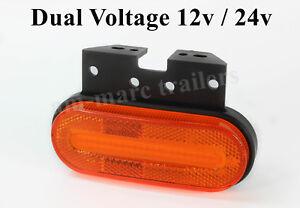 Led light FRONT side marker amber orange 12v-24v indicator lorry trailer caravan