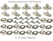 Standard Turnbutton 8mm kit with screws common sense fastener boat canopy cover