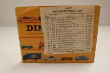 "Dinky Catalogue: ""U.S.A. 1957"" (32 Pages + Prices + Revised Price Sheet)"