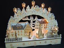 3D LED Light Arch with Pyramids Christmas Tree 3 Children 55x35 10288