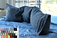 LINEN BODY pillow case / Stonewashed body pillow case / Softened linen bedding /