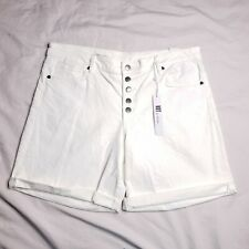 Kut from the Kloth Size 8 Catherine Boyfriend White Jean Shorts Womens